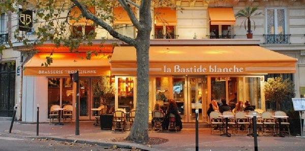 La devanture de la Bastide Blanche